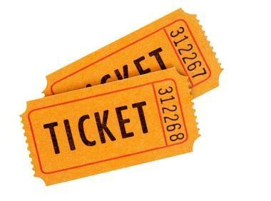 Orange-Raffle-Tickets