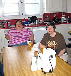 Jen, left, and Sue are residents of Bloom House, a 150-year-old farmhouse in Middlesex County that is home to five SERV women recovering from severe and persistent mental illness. This high-independence program is the first of its kind for SERV Centers of New Jersey.