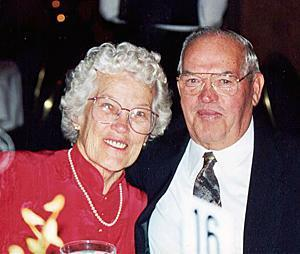 Marjorie and John Bloom, seen here during a SERV Thanks For Giving dinner, donated their family farmhouse in Middlesex County to SERV in 2006 in appreciation for the care given to their son, a consumer of SERV.